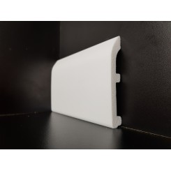 battiscopa bianco in polimero estruso da tinteggiare mm100 x mm15 bordo tondo