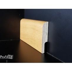 battisocpa zoccolino passafilo passacavi in legno rovere mm75