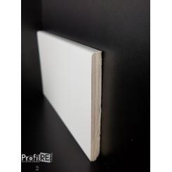 Battiscopa zoccolino in legno multistrato cm10 laccato bianco ral 9016 bordo quadro (1)