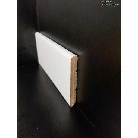 battiscopa laminato economico bianco in legno alto mm 75 spessore mm 12