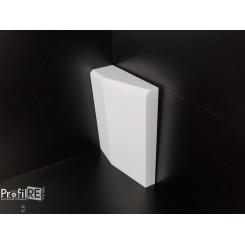 Base per porta in duro polimero per battiscopa spessi