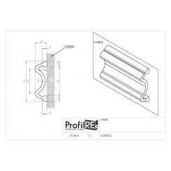 Profilo bianco mezzo muro 7 cm pra70 extra resistente tecnico