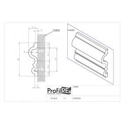 Profilo bianco mezzo muro pra13 mm80 extra resistente TECNICO
