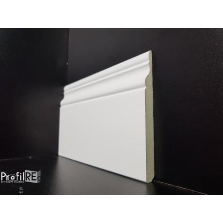 battiscopa hdf ducale inglese bianco 10 cm bianco ral 9016 buona resistenza all'umidità