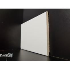 battiscopa bianco ral 9010 alto in legno moderno bordo quadro 12 centimetri (2)