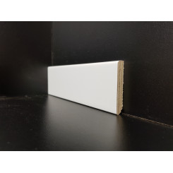 battiscopa bianco legno laccato basso quadro 5 centimetri moderno (2)
