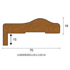 coprifilo mostrina battiscopa 7 centimentri barocco legno grezzo