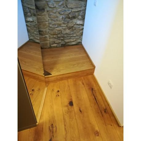 Battiscopa in legno massello rovere 3 centimetri spessore mm20 (3)