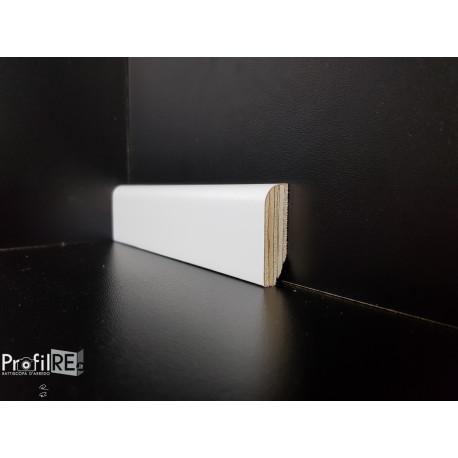 battiscopa bianco laccato impiallacciato basso tondo 4 centimetri spessore 13 mm