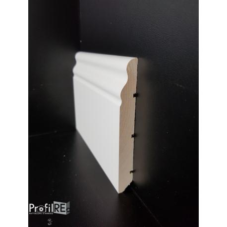 battiscopa in legno massello duro alto ducale soft inglese bianco 12 cm Tiglio