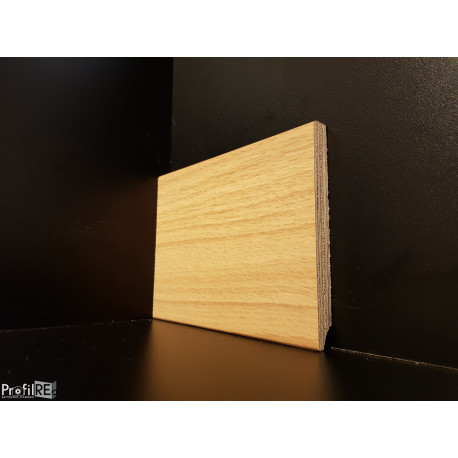 battiscopa legno Rovere alto 12 centimetri bordo quadro moderno multistrato