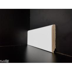 zoccolino battiscopa bianco in legno tondo alto 7 centimetri spessore 13 mm