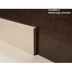 battiscopa 6 cm in mdf bianco bianco quadro filo muro