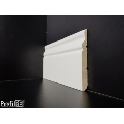 battiscopa legno alto modanato ducale soft mini bianco spessore mm 10