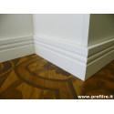 battiscopa zoccolino Firenze alto 12 centimetri moderno laccato bianco