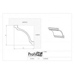 Profilo cornice soffitto polistirene estruso EXTRA RESISTENTE cm 8 x cm 8