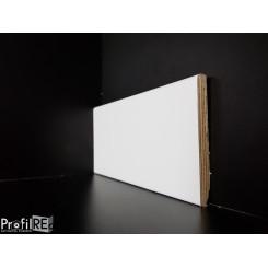 battiscopa legno moderno alto 8 centimetri bianco ral 9016 bordo squadrato