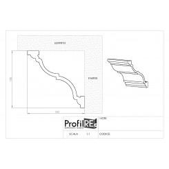 Cornice soffitto polistirene duro pra04c