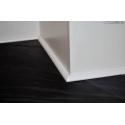 cornicetta profilo battiscopa basso in legno massello bianca mm10x10