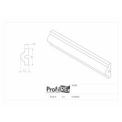 Profilo verticale boiserie con pannelli mm 20