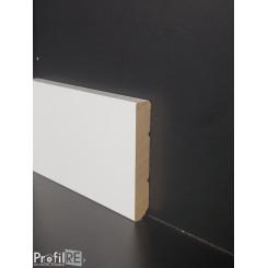 battiscopa bianco in legno zoccolino moderno massello quadro mm80 x mm13