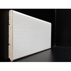 battiscopa zoccolino bianco matrix frassinato in legno laminato mm75x10