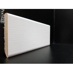 battiscopa zoccolino bianco matrix frassinato in legno laminato mm 75 spessore mm12