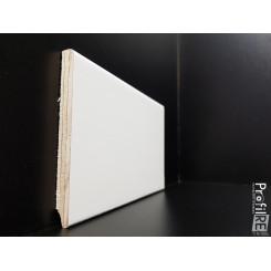battiscopa zoccolino alto 10 centimetri in legno bianco 9016 bordo quadro