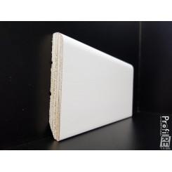 Battiscopa multistrato spessore mm 15 alto centimetri 9 laccato bianco ral 9010 bordo tondo