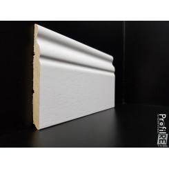 battiscopa legno alto modanato spessore cm 1 ducale soft mini bianco