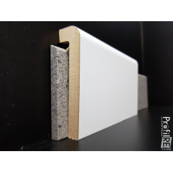 coprizoccolo coprimarmo in mdf laminato bianco per pavimenti legno e laminati