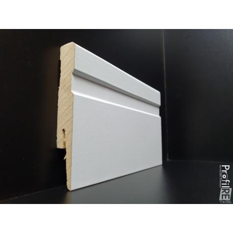 battiscopa mdf La Spezia bianco alto 10 centimetri sagomato spessore mm 15