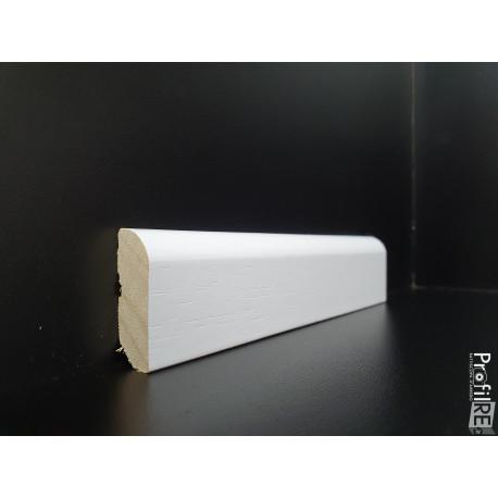 battiscopa in legno basso laccato bianco massello mm 35 spessore mm13