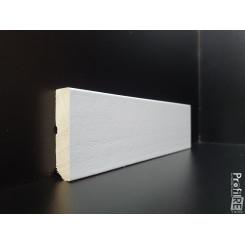 battiscopa laccato bianco alto 5 centimetri in legno massello bordo moderno quadro bianco