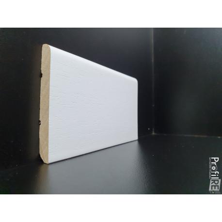 battiscopa bianco in legno massello alto 8 centimetri spessore mm 10