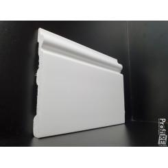 Battiscopa duro polimero pronto all'uso modello Milano colore bianco