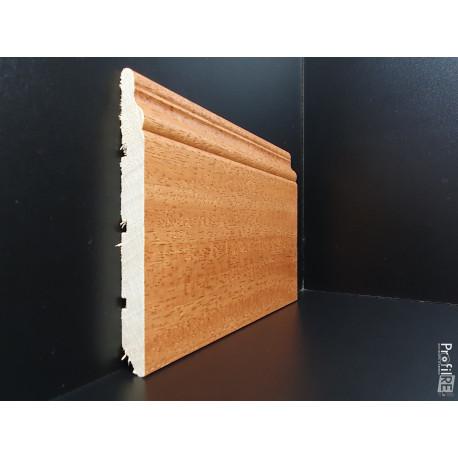 battiscopa massello tinto Iroko ducale inglese alto 12 cm