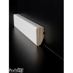 battiscopa 3 centimetri bianco laccato impiallacciato basso quadro spessore mm 13 (1)