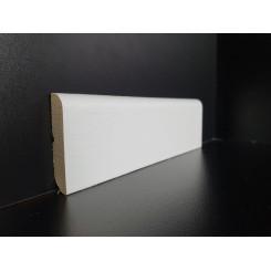 Battiscopa basso in legno laccato bianco alto 5 cm bordo tondo