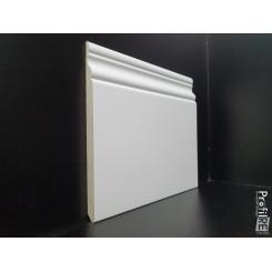 Battiscopa inglese alto 14 cm in HDF anti umidità laccato bianco ral 9016 spessore mm9