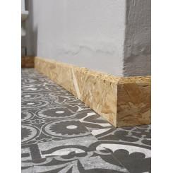 Battiscopa rustico osb zoccolino design in legno grezzo