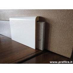 coprizoccolo coprimarmo in legno massello laccato bianco alto cm 10 circa
