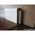 coprizoccolo coprimarmo in legno laccato bianco mm95x17