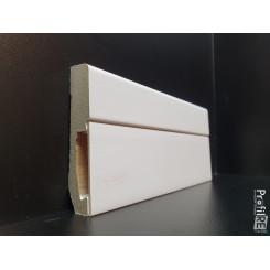 battiscopa Forlì Cesena con vano a scomparsa porta cavi in mdf bianco EXTRA RESISTENTE