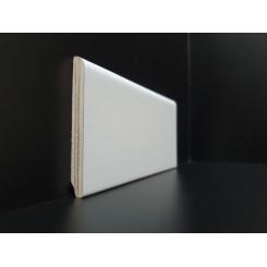 battiscopa 8 cm bianco legno impiallacciato bordo tondo mm 10