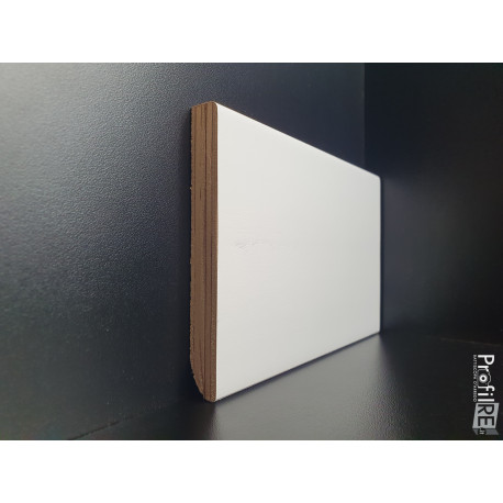 battiscopa bianco alto bordo quadro moderno cm 10 spessore mm 13