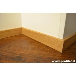 battiscopa in legno basso Rovere bordo quadro 5 cm spessore mm 13