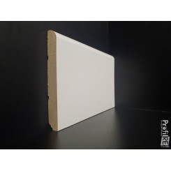 battiscopa zoccolino legno massello bianco tondo alto mm 100 spessore mm 13