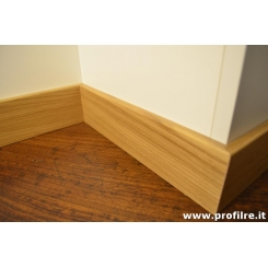 battiscopa in legno zoccolino massello bordo squadrato rovere 8 cm spessore mm13