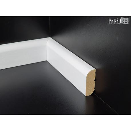 battiscopa basso 4 cm in legno massello laccato bianco spessore mm 15